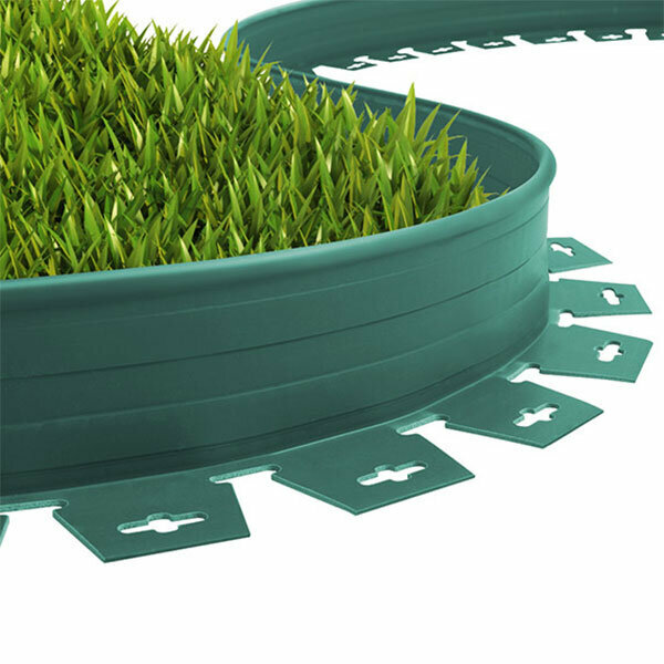 Plastik Çim Sınırlayıcı Esnek Yeşil 20 m 4