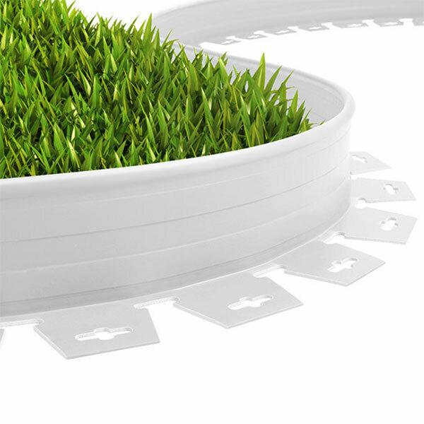Plastik Çim Sınırlayıcı Esnek 25 mt Beyaz