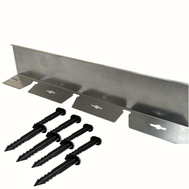 Galvaniz Metal Çim Sınırlayıcı h:10 cm 2mt